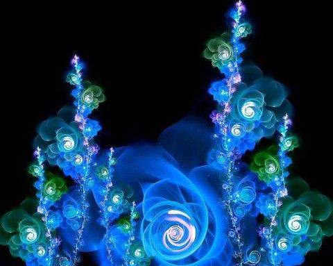 lindas flores bajo el mar